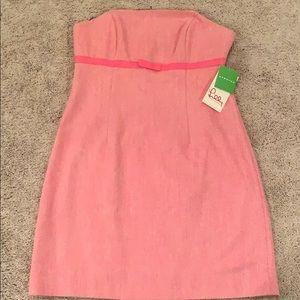 Lilly Pulitzer Pink herringbone dress